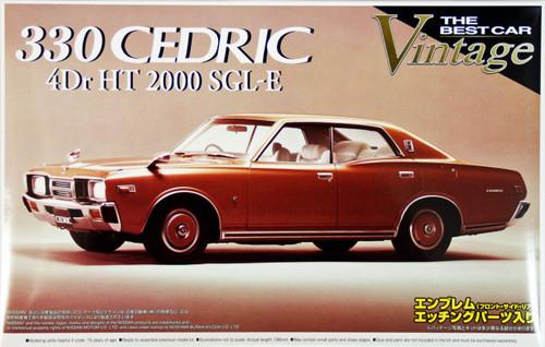 Aoshima 41390 Nissan 330 Cedric 4Dr HT2000 SGL-E 1/24 Scale Kit