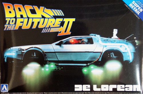 Aoshima 06184 Back to the Future Part 2 Delorean (Super Detail) 1/24 Scale Kit