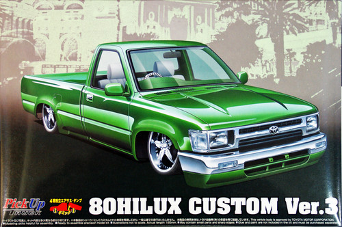 Aoshima 48894 Toyota 80 Hilux Custom Version3 (Pick Up Truck) 1/24 Scale Kit
