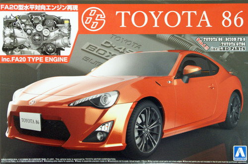 Aoshima 07600 Toyota 86 with FA20 Type Engine (inc. LHD parts) 1/24 Scale Kit