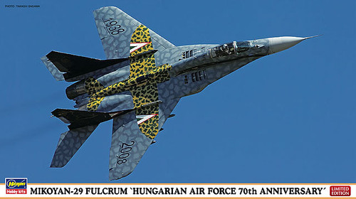 Hasegawa 02062 Mikoyan-29 Fulcrum Hungarian Air Force 70th Anniv. 1/72 Scale Kit