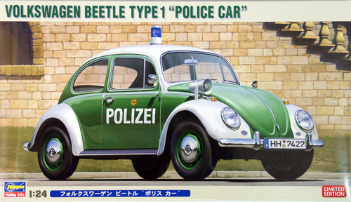 "Hasegawa 20251 Volkswagen Beetle Type 1 ""Police Car"" (Polizei) 1/24 Scale Kit"