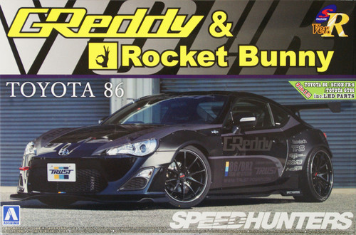 Aoshima 07631 TOYOTA 86 2012 Greddy&Rocket Bunny Volk Racing Version 1/24 Scale Kit