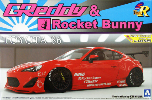 Aoshima 07624 TOYOTA 86 2012 Greddy & Rocket Bunny Enkei Version 1/24 Scale Kit