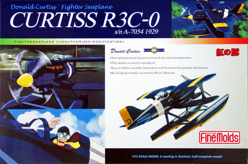 Fine Molds PJ2n CURTISS R3C-0 Seaplane PORCO ROSSO (Pre-Painted) 1/72 Scale Kit