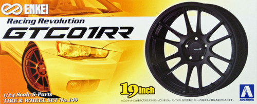 Aoshima 09048 Tire & Wheel Set No.149 ENKEI GTC01RR 19 inch 1/24 Scale Kit