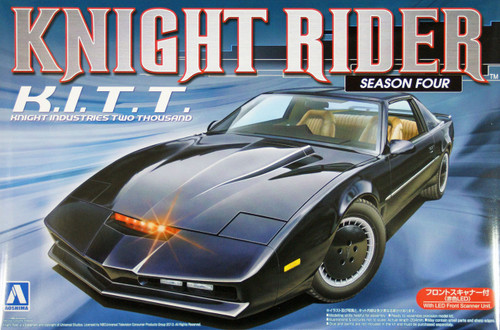 Aoshima 08003 Knight Rider KITT (KitT) Season 4 w/LED Front Scanner 1/24 Kit