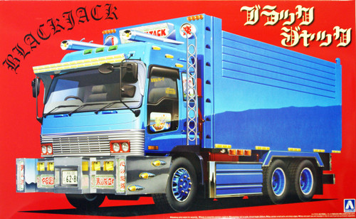 Aoshima 09666 Japanese Decoration Truck Black Jack 1/32 Scale Kit