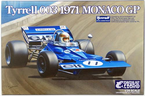 Ebbro 20007 Tyrrell 003 1971 Monaco GP 1/20 scale plastic model kit