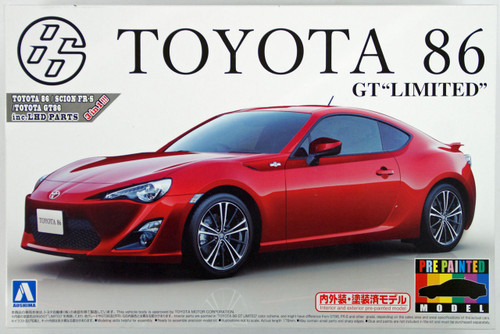 Aoshima 10068 Toyota 86 GT Limited 2012 Lightning Red 1/24 Scale Kit (Pre-painted Model)