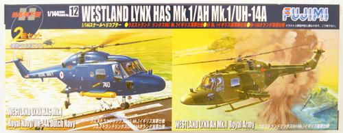 Fujimi No.12 Westland Lynx Has Mk.1 / AH Mk. 1 / UH-14A 1/144 Scale Kit