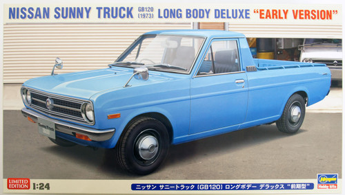 Hasegawa 20267 Nissan Sunny Truck GB120 1973 Long Body Deluxe Early Version 1/24 Scale Kit