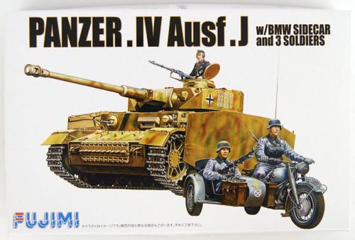 """Fujimi WA12 World Armor Panzer IV Ausf. J w/ BMW Sidecar & 3 soldiers"""" 1/76 scale kit """""""