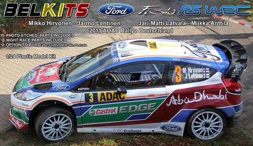 Aoshima (BELKitS) 84311 Ford Fiesta RC WRC 2011 ADAC Rallye Deutschland 1/24 Scale Kit