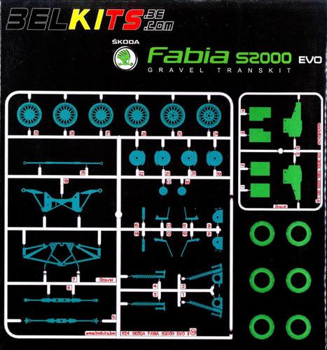 Aoshima (BELKitS) 84342 Option Parts Set for Aoshima 84328 Škoda Fabia 1/24 Scale Kit