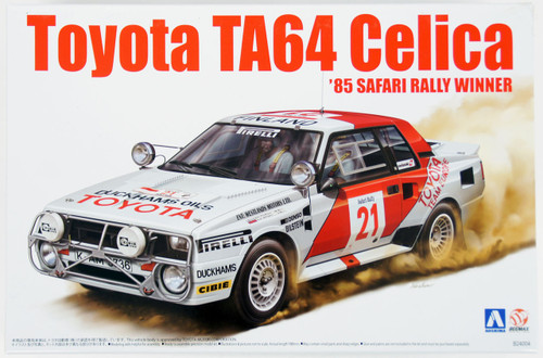 Aoshima 84564 Toyota Celica TA64 1985 Safari Rally 1/24 Scale Kit