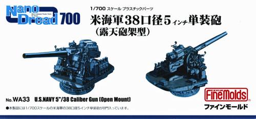 "Fine Molds WA33 U.S.Navy 5""/38 Caliber Gun (Open Mount) 1/700 scale kit"