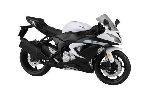 Aoshima Skynet 97779 Kawasaki Ninja ZX-6R 2014 White 1/12 scale