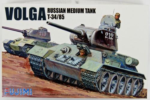"Fujimi WA09 World Armor ""Russian Medium Tank T34/85 VOLGA"" 1/76 scale kit"