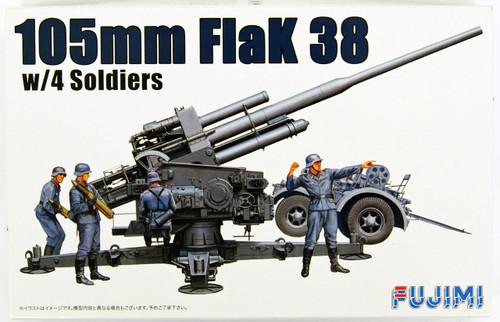 "Fujimi WA24 World Armor ""105mm FlaK 38 w/4 Soldiers"" 1/76 scale kit"