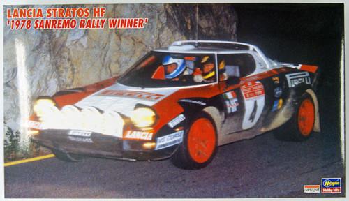 Hasegawa 20218 Lancia Stratos 1978 Sanremo Rally Winner 1/24 Scale Kit
