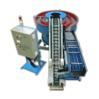 Spiral Vibratory Bowl with Separator and Media Return