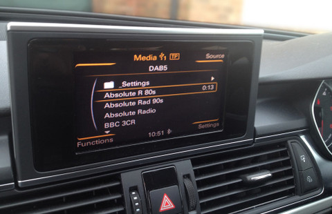 Audi car digital radio using JustDRIVE-USB