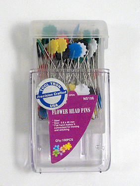 Flower Head Pins - these flower head pins have a sharp finish and glide smoothly through fabric
