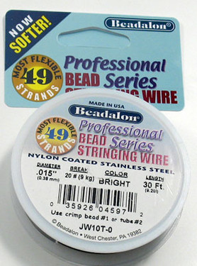 Beadalon 49 Strand (.015 inch) Bead Stringing Wire (30 ft)