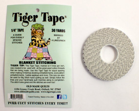 1/4 inch Tape, 30 yards.  A Guide for Evenly Spaced Stitches