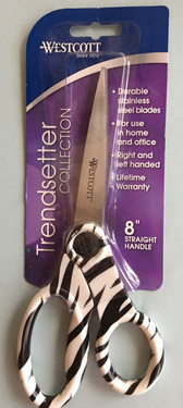 8 Inch Stainless  Steel Straight Handle Zebra Scissor