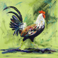Rooster On Green