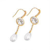 Crystal Dangling Earrings