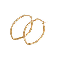Matt Gold Oval Hoops