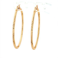 Gold Etched Hoop Earrings