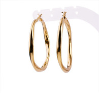 Gold Smooth Hoop Earrings