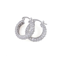 Stone Encrusted Hoop Earrings
