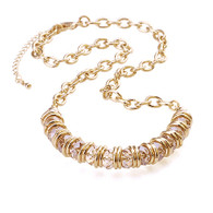 Gold Crystal Necklace AB Color