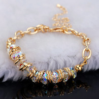Crystal Gold Bracelet