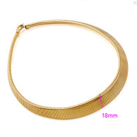 Gold Ridged Necklace