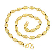 Gold Oblong Charm Necklace