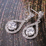Crystal Oblong Earrings