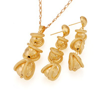 Gold Plated Dangling Set