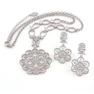 Silver Flower Set