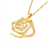 Bold Flower Pendant Necklace