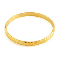 Gold Patterned Bangle