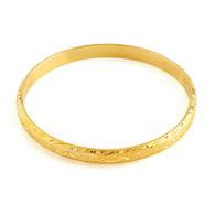 Gold Patterned Bangle