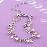 Champagne Crystal Charm Bracelet