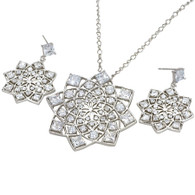 Silver Flowery Set
