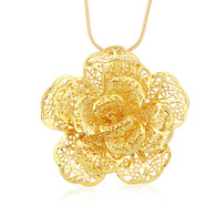 Super Bold Flower Pendant Necklace